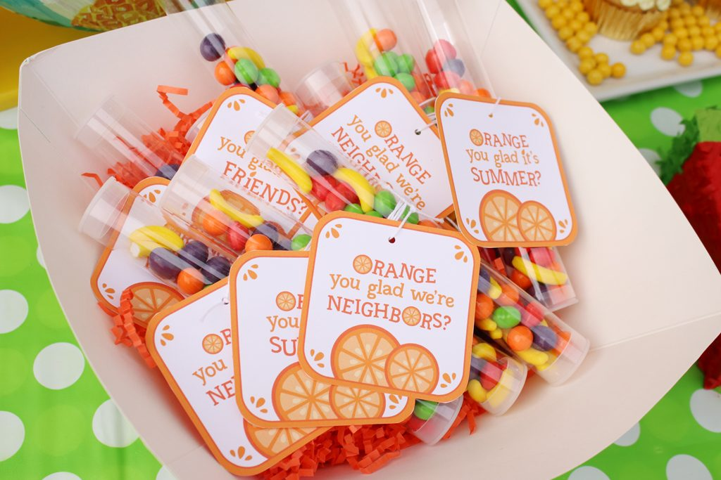 Summer Fruit Party Favors