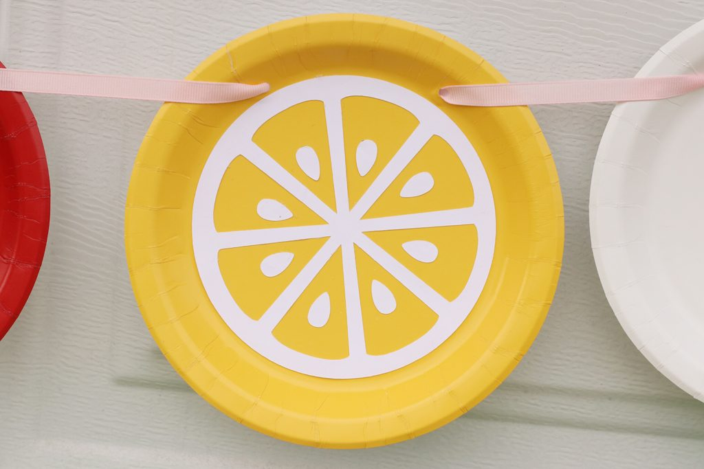 DIY Paper Plate Fruit Party Garland Step 3