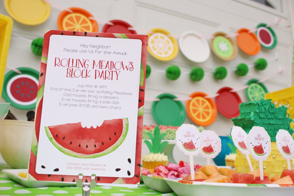 Summer Fruit Party Invitations