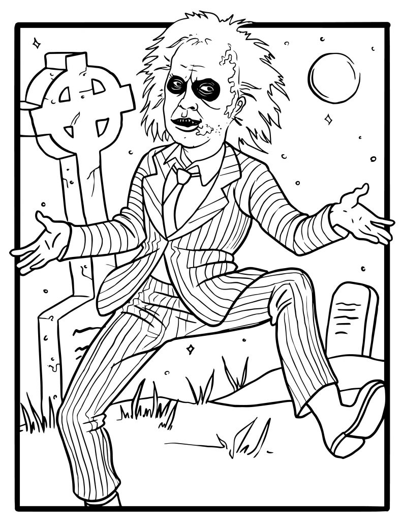 beetlejuice coloring pages Free Tim Burton Coloring Pages | Party Ideas & Activities by  beetlejuice coloring pages
