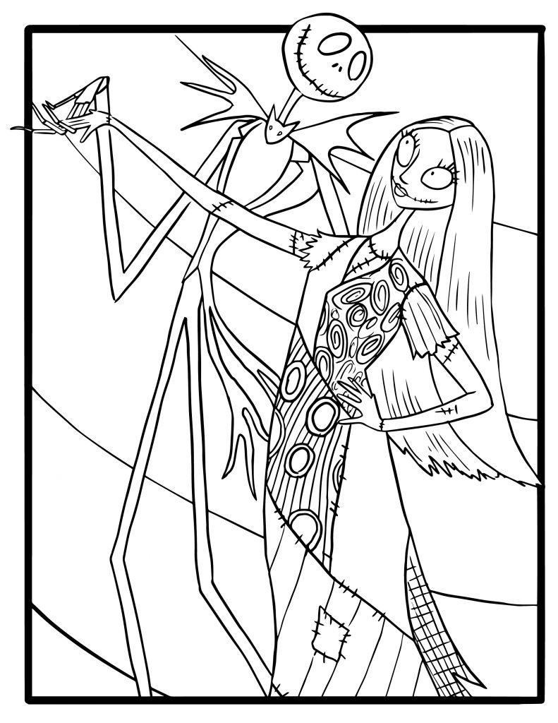 Free Nightmare Before Christmas Coloring Pages