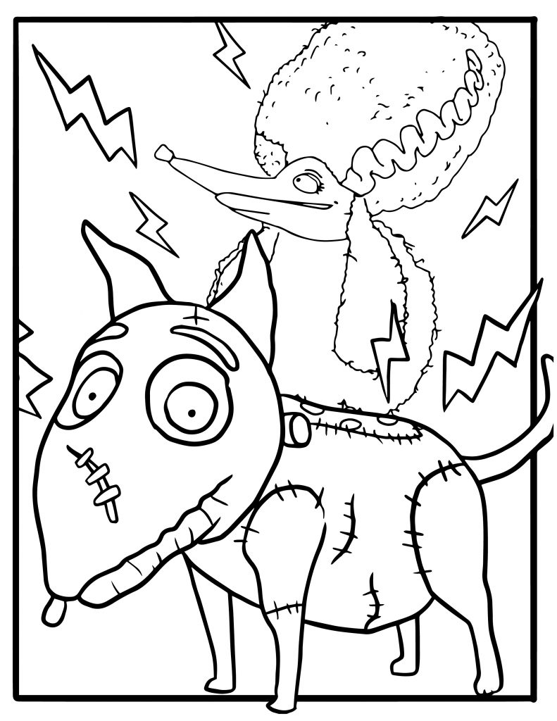 Free Frankenweenie Coloring Pages