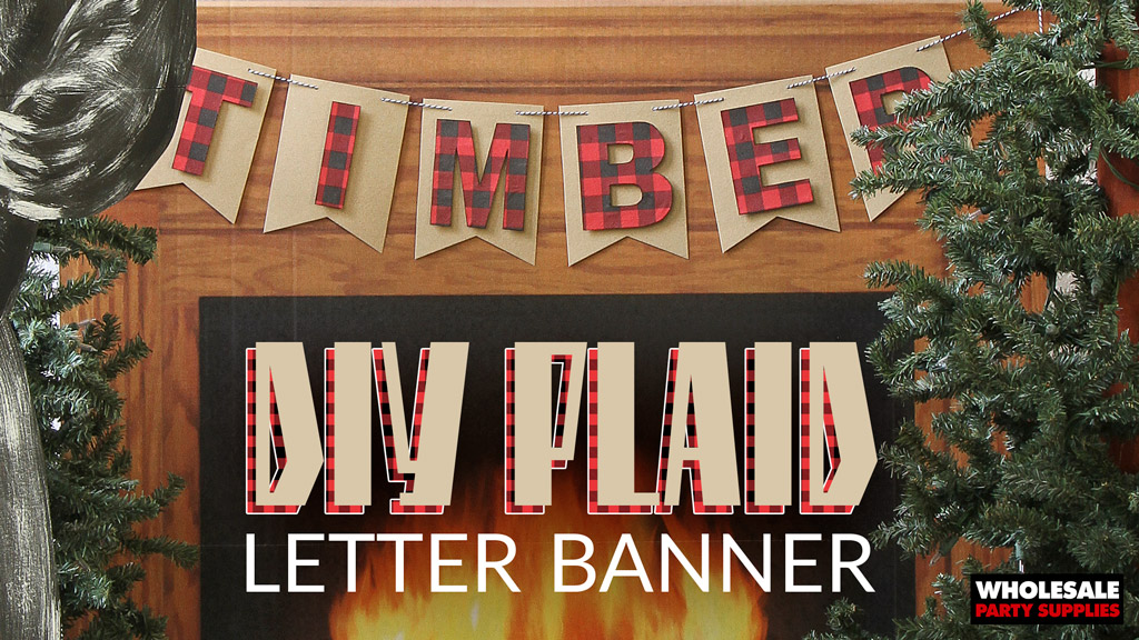 "Craft Banner Upgrade – Plaid ""TIMBER"" Party Garland"