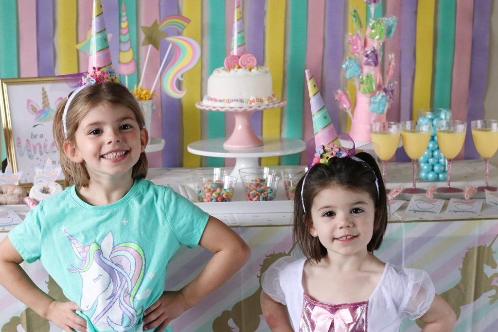 Unicorn Sparkle Party Ideas - Gold and Pastel