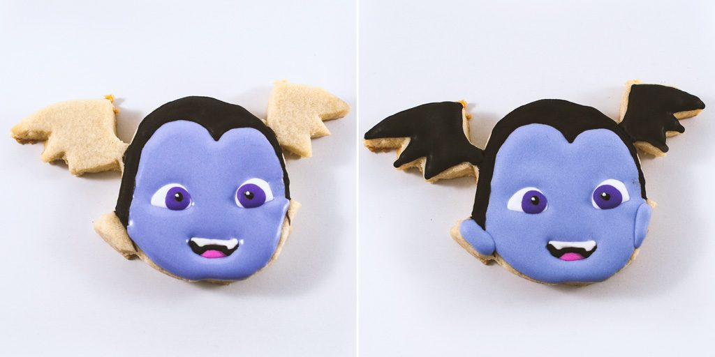 Vampirina Decorated Cookies Step 5