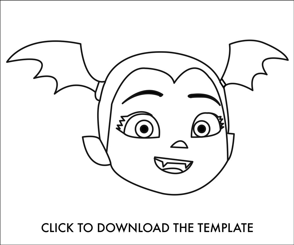 Vampirina Decorated Cookies Template