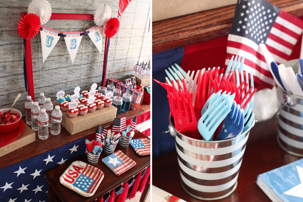 Vintage Patriotic Party Red White And Blue
