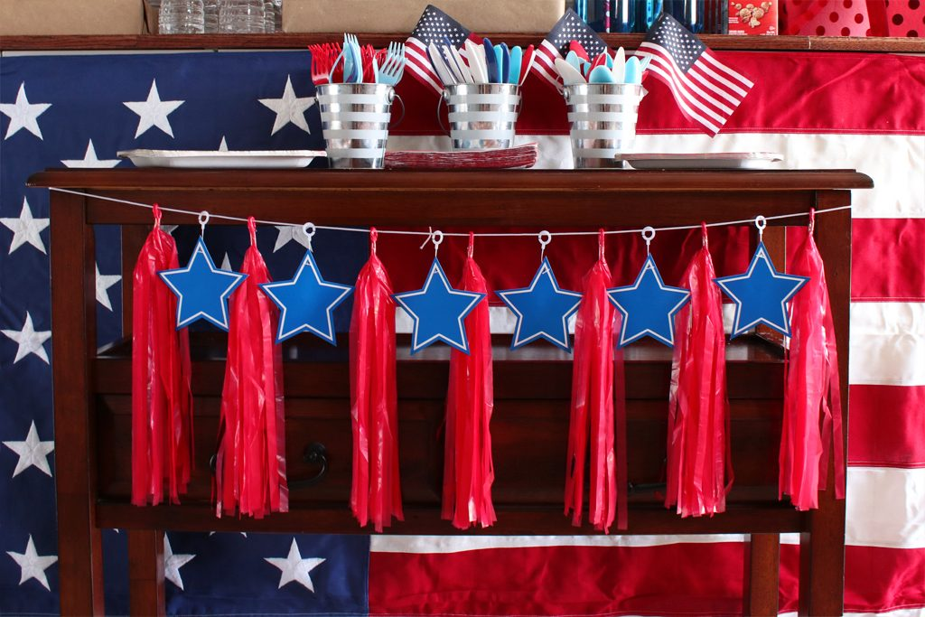 Vintage Patriotic Party - Red, White and Blue