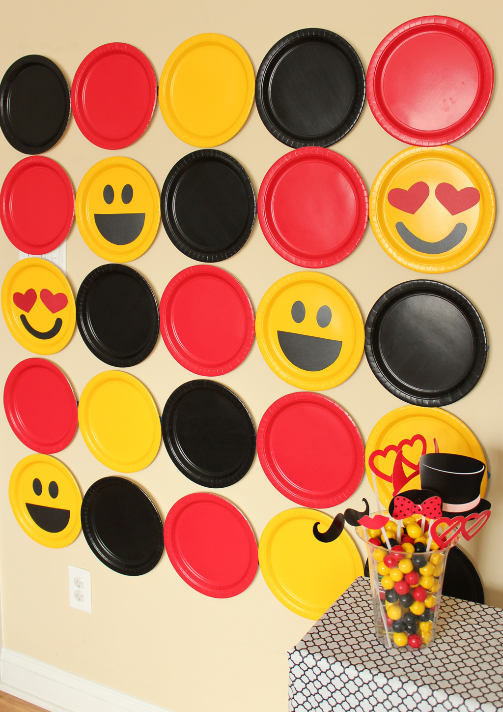 DIY Emoji Photobooth Backdrop Party Ideas amp Activities